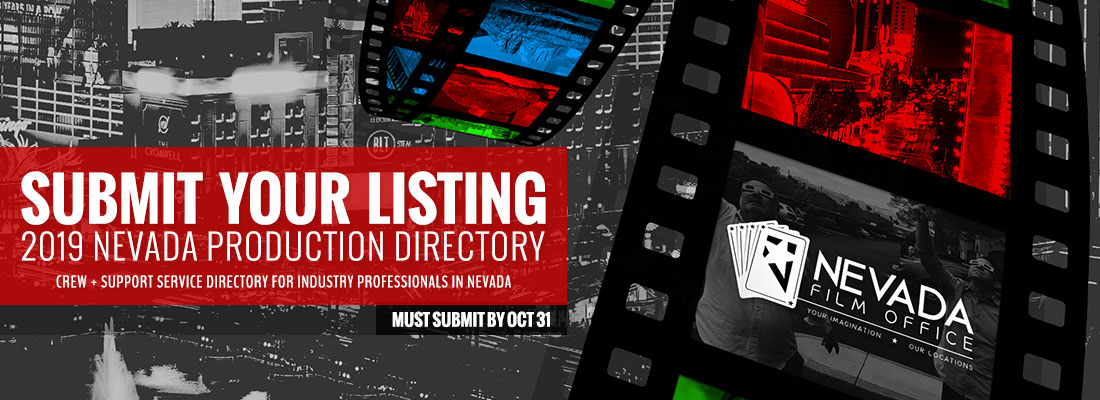 Submit your listing for the 2019 Nevada Production Directory!