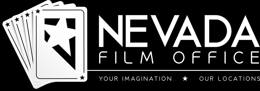 Nevada Film Office Logo on Black Background